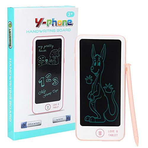 Tableta de Dibujo LCD, plástico para protección de Ojos, Viene con bolígrafo, Tablero de Dibujo LCD(Pink)