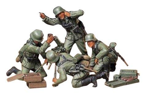 タミヤ 1/35 ミリタリーミニチュアシリーズ No.193 ドイツ陸軍 歩兵迫撃砲チームセット プラモデル 35193