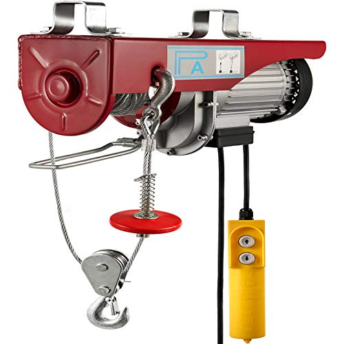 Happybuy 440 LBS Lift Electric Hoist, 110V Electric Hoist, Remote Control Electric Winch Overhead Crane Lift Electric Wire Hoist for factories, warehouses, construction, building, goods lifting