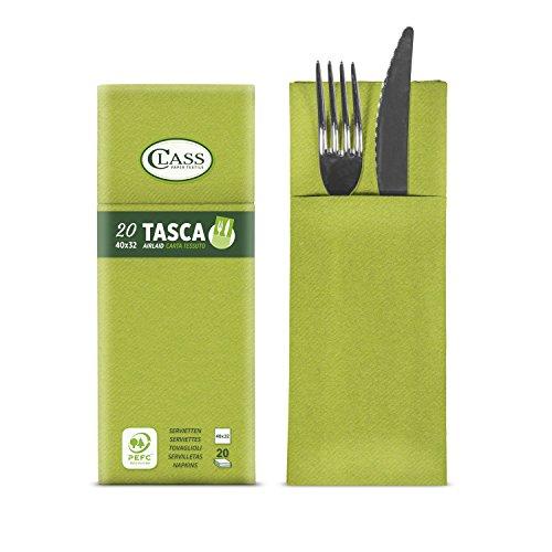Class c4032ta-046-pefc Laid Serviette Pochette Porte-Couverts, Papier, Avocat, 40 x 32 x 0.8 cm, 20 unités