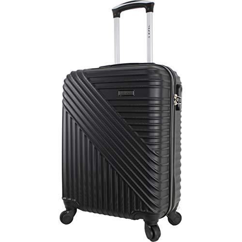 Zeel – Maleta de Cabina de 50 cm, Color Negro, 100 % Low Cost – Regalo de código con Mango telescópico con botón de Pulso.