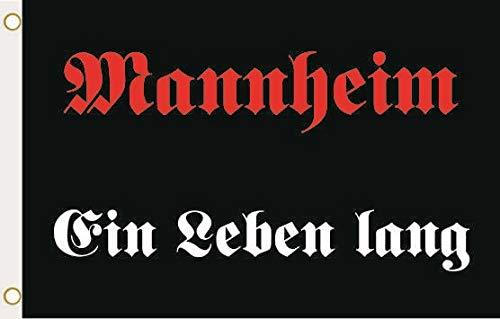 U24 Flagge Fahne Mannheim EIN Leben lang 90 x 150 cm