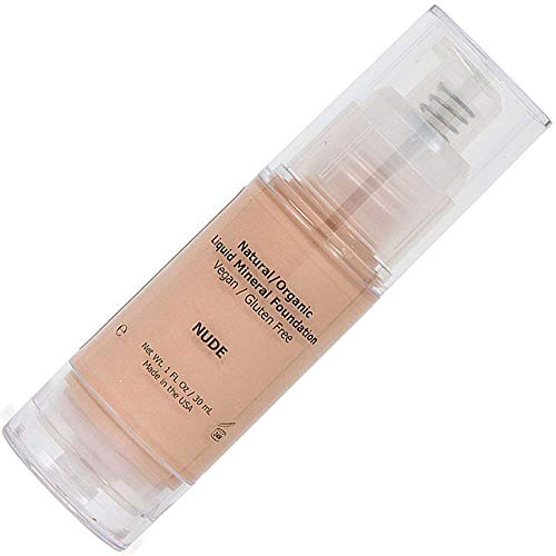 Shimarz Liquid Foundation Full Face Coverage Makeup for Women with Dry Oily Acne Sensitive Mature Skin, Light Color, Nude, 1FL oz/30ml (Pack of 1)