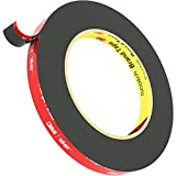 ZICXON 3M Double Sided Tape, Heavy Duty 3M Mounting Waterproof VHB Foam Tape, for Car Decor, Home Decor and Office Decor (16FT x 0.4IN) Black