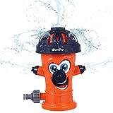 iBaseToy Sprinkler Kinder, Wassersprinkler im Hydrant Design, Wasserspielzeug Sprinkler für...