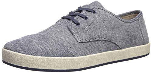 TOMS Men's Paseo Sneaker, Navy slub Chambray, 10.5 Medium US