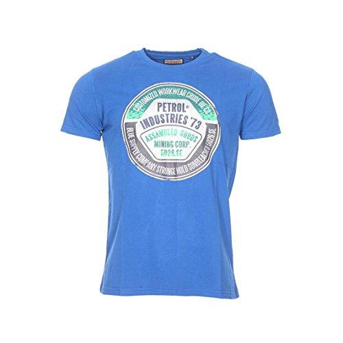 Petrol Industries Herren SS R-Neck T-Shirt, Blau (Deep Sea), M