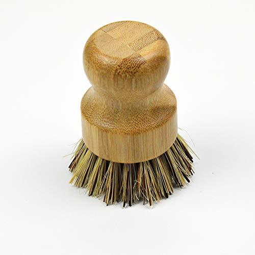 MARIE NATUR Nachhaltige Topfbürste aus Bambus | Spülbürste mit pflanzlichen Borsten | 100% Plastikfrei, biologisch abbaubar & vegan