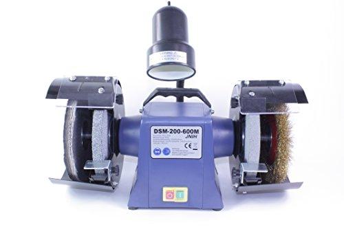 Polierbock, Poliermaschine, Schleifbock, Schleifmaschine, 200mm, 600W, Lampe, DSM-200-600M