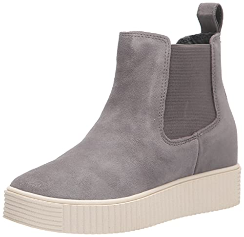 Dolce Vita Women's COLA H20 Ankle Boot, Grey Suede H2O, 10
