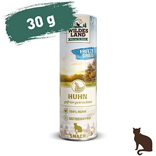 Wildes Land | Freeze Dried Snack für Katzen | Huhn | 30 g | artgerecht | 100% Huhn | schonende Gefriertrocknung | getreidefrei