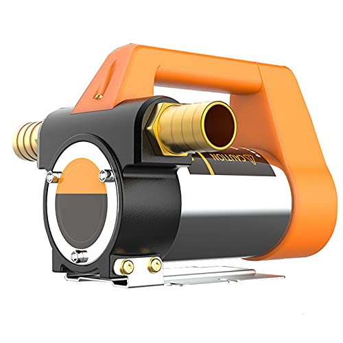 Bomba Trasvase Gasoil Diesel, Kit Aspiracion Deposito de Gasoil, 12V 24V, Bomba de Transferencia de Gasóleo Autoaspirante Eléctrico, Bomba Aceite Extraccion Avec Manguera