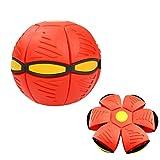 FeiWen Bola mágica de ovnis Bola de platillo Volador deformada Bola de ventilación Frisbee Bola deformada Juguetes para Padres e Hijos Juegos de Playa Deportes al Aire libr Regalo (Rojo)