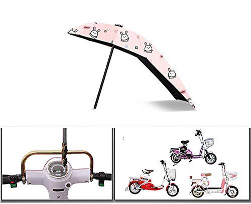 hdfhhsasaoi protezione da pioggia e sole copertura per bici, ombrello oversize in alluminio, supporto pieghevole regolabile per bicicletta, moto, auto elettriche rosa