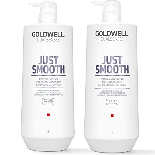 Goldwell Dualsenses Just Smooth Taming Shampoo, 1000 ml, Conditioner, 1000 ml