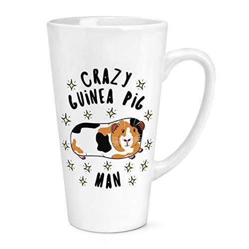 Crazy Cochon D'Inde Homme Étoiles 17oz Large Latte Tasse Mug