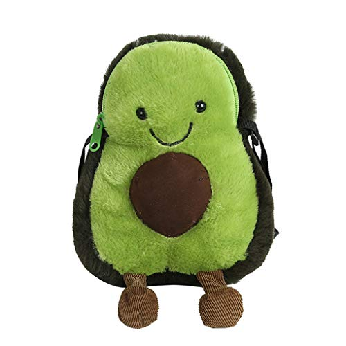 Mini-Schultertasche für Kinder, Mädchen, Kleinkinder, hübsch, haarig, Handtasche, Handtasche, Handtasche, Handtasche, tolles Geburtstagsgeschenk für 1–5 Jahre avocado