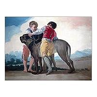 JLFDHR 家の装飾アート壁の写真あちこちに住んでいるポスタープリントキャンバス絵画スペインのフランシスコデゴヤ-60X80Cmx1フレームなし