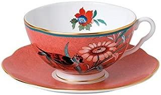 Wedgwood Paeonia Blush Teacup & Saucer Set Coral