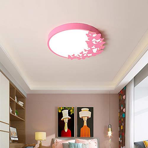 LED Deckenlampe Cartoon Farbe Schmetterling Kinderzimmer Mädchen Prinzessin Einfach Modernes Schlafzimmer Kindergarten Nordische Kreative Lampen Durchmesser 50Cm
