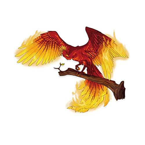 GQQ auto sticker 14,4 * 11Cm coolste edele gouden Phoenix vlam vliegen Pvc raam decoratie auto Stickerschildren'S favoriete Stickers A