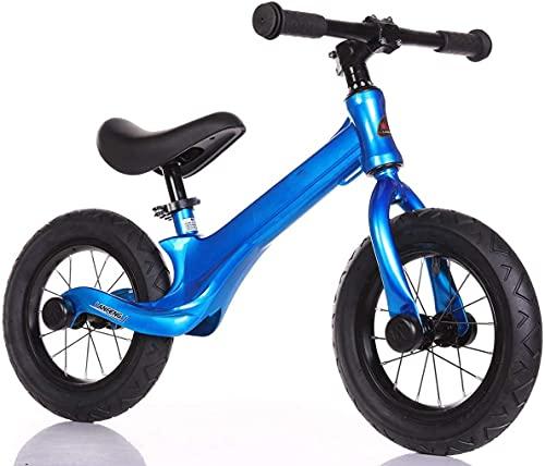 LRBBH Bicicleta de Balance de Seguridad de Bicicleta de Equilibrio para Niños 2-6 Años Pedalless Bike Training Bike con Silla de Montar Ajustable Y Neumáticas Neumáticas de 12 Pulgadas