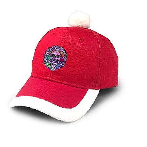Sombrero de camionero mexicano con calavera de azcar para Halloween, sombrero de Navidad, gorro de bisbol de algodn, sombrero de Pap Noel, disfraz rojo