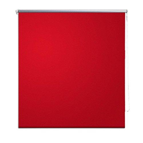 Festnight Estor Enrollable Persiana para Dormitorio Cocina 120 x 175 cm Rojo