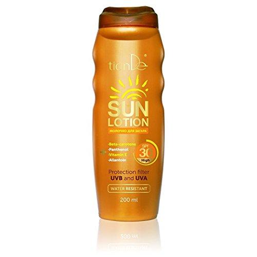 Lait Solaire SPF 30, TianDe 30139, 200ml, Prenez Votre Place Sous le Soleil! Sans Nuire à Votre Santé!