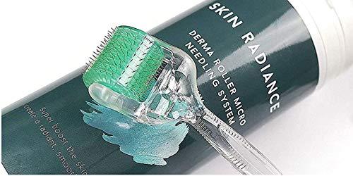 Skin Radiance™ Dermaroller Gesicht 1,0 – 192 Titanium Coated Micro Needling Anti Falten, Aknenarben, Cellulite, Stimuliert Collagen. Komplettes E-Book in Deutsch Inklusive.