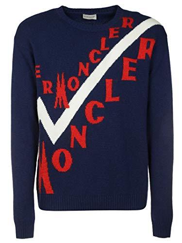 Luxury Fashion | Moncler Heren 9041600A9046780 Donkerblauw Wol Truien | Herfst-winter 19