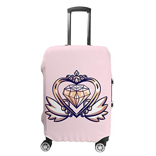 Ruchen - Funda Protectora para Maleta con diseño de alas de Cristal, Color Rosa Pastel