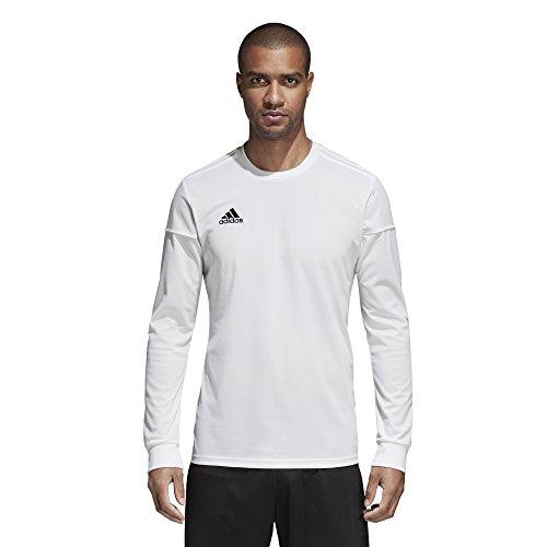 adidas Mens Squadra 17 Long Sleeve Jersey White/Black S