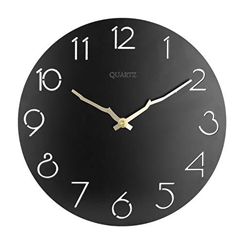 Orologio da parete Moderno, 30cm Orologio da parete Grande Cucina, Vintage Orologio da Muro Orologio da parete Moderni, Orologio da Muro al Quarzo con Movimento Silenzioso Sweep