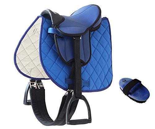 Markgraf German Riding My Little Pony - Sillín de bicicleta con accesorios cepillo (azul)