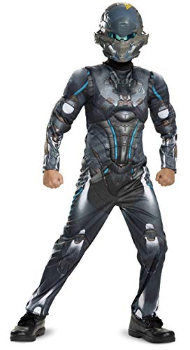 Halo Boys' Spartan Locke Classic Muscle Costume - Size Medium (8-10) Grey, Blue