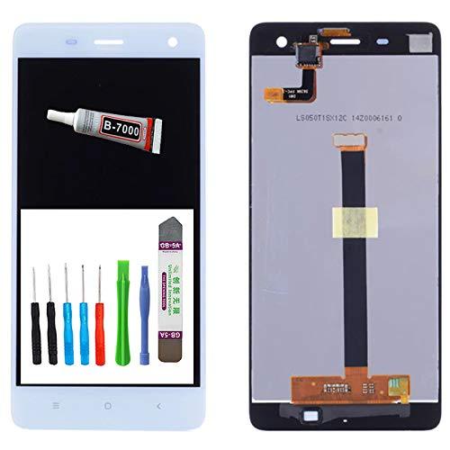 Pantalla táctil de repuesto para Xiaomi Mi4 LCD, digitalizador LCD + táctil + juego de herramientas + adhesivo líquido (blanco)