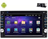 Eincar Double din Car Radio GPS Navigation Car Stereo for car DVD Player with Bluetooth Android 10.0 OS 6.2 inch Touch Screen Support FM/AM/RDS Radio MirrorLink Wifi USB/SD OBD2 Steering Wheel Control