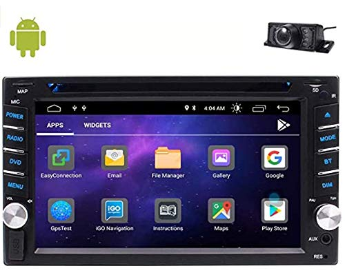 Eincar Double din Car Stereo Android Auto 10.0 OS 6.2 inch Touch Screen Car Radios GPS Navigation DVD Player with Bluetooth Support FM/AM/RDS Radio MirrorLink Wifi USB/SD OBD2 Steering Wheel Control