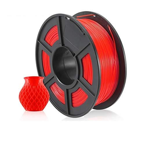 3D Printer Filament 1.75mm Black Color PETG 3D Filament 1KG/2.2LBS Printing Filament (Color : PETG RED)