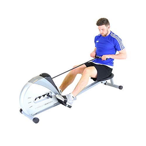 Charles Bentley Fitness Foldable Pulley Indoor Cardio Home Gym Rower Rowing Machine