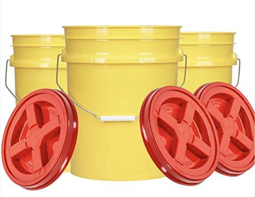 House Naturals Kansas City Mall 5 Gal Yellow Bucket on lid Regular dealer Gamma with Screw Pail