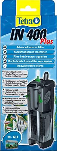 Tetra IN 400 Plus Filtro Interno per Scquari, Comodo e Potente, Filtro Interno per Il Filtraggio Meccanico, Biologico e Chimico
