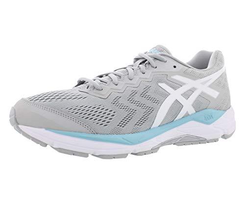 ASICS Women's Gel-Fortitude 8 Running Shoes, 7M, MID Grey/White/Porcelain Blue