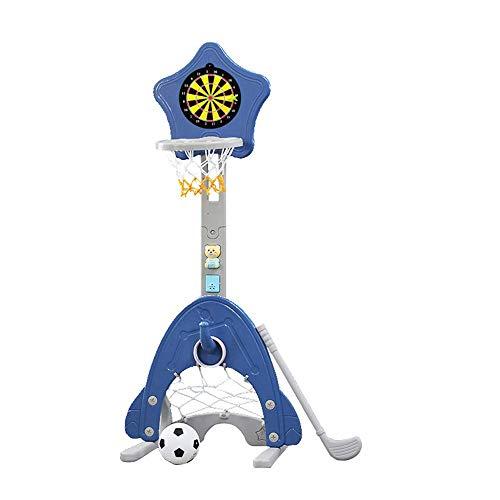 4-in-1 Kinderen basketball Stand, verstelbare Easy-Scoring Basketball Hoop, Voetbal/Gate Voetbal, gebruikt for professionele Indoor Toys, Best Gift for baby's en peuters li