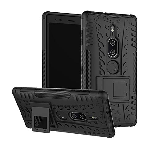 betterfon   Sony Xperia XZ2 Premium hülle Outdoor Handy Tasche Hybrid Hülle Schutz Hülle Panzer TPU Silikon Hard Cover Bumper für Sony Xperia XZ2 Premium Schwarz