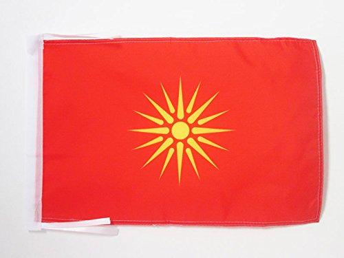 AZ FLAG Flagge MAZEDONIEN ALT 45x30cm mit Kordel - MAKEDONISCHE Fahne 30 x 45 cm - flaggen Top Qualität