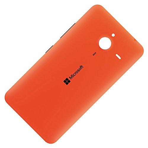 Microsoft Lumia 640 XL LTE original Akkudeckel orange inklusive Ein/Aus und Laut/Leise Taste