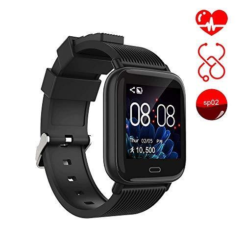 Smart Watch Ayuly Fitness Tracker mit Herzfrequenz-/Blutdrucküberwachung Fitness Uhr smart Sportuhr Wasserfest gemäß IP67 Armbanduhr Kamerafernbedienung Damen Smart-Armband für Android iOS