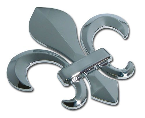 Elektroplate Louisiana Fleur-de-Lis Chrome Car Emblem